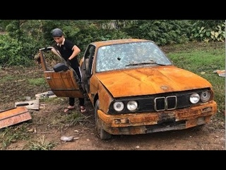 50 years old BMW car restoration - very old rusty | Restores the BMW car door #4