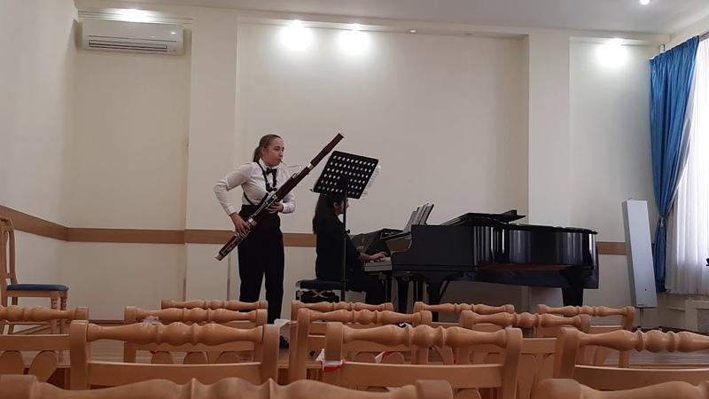 Девьен Соната для фагота и фортепиано C dur IIч IIIч Исполняют Сапожникова Полина и Ахундова Гюнай