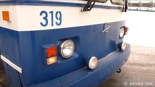 Черкасский троллейбус- ЗиУ-682УА №319, работа на линии, кабина водителя