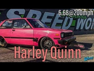 Harley Quinn Racing @200mph  13B turbo Toyota starlet 3/4 chassis