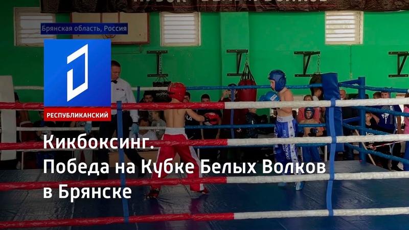 Кикбоксинг Победа на Кубке Белых Волков в Брянске