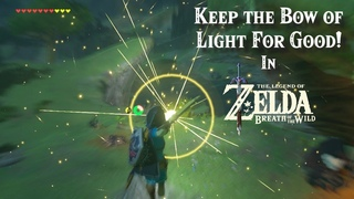 How to Keep the Bow of Light OUTSIDE THE FINAL BATTLE in the Legend of Zelda Breath of the Wild!