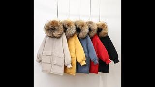 Новая женская зимняя короткая куртка mujer, парки с капюшоном, зимнее пальто, женская свободная парка с меховым воротником,
