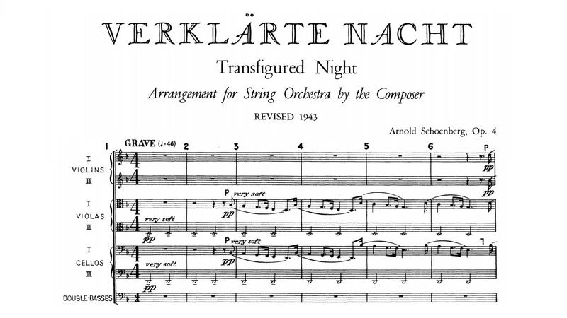Arnold Schoenberg Verklärte Nacht for string orchestra Op 4