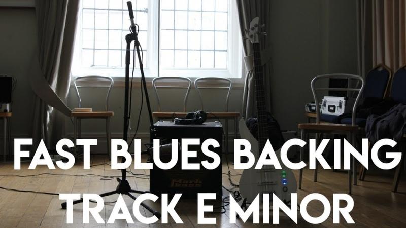 Fast Blues Backing Track Em