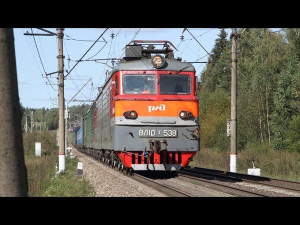Поезда на участке Акулово Бекасово Два раритета в одном кадре членовоз Часть 2