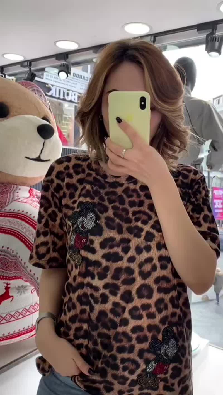 ⭕ Футболка Леопард с Микки