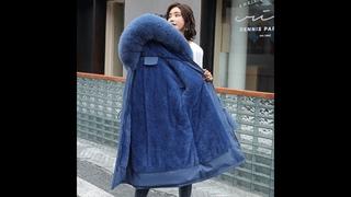 Зимние пальто и парки 2021 зима 30 градусов женские парки пальто с капюшоном и меховым воротником толстые теплые зимние куртки