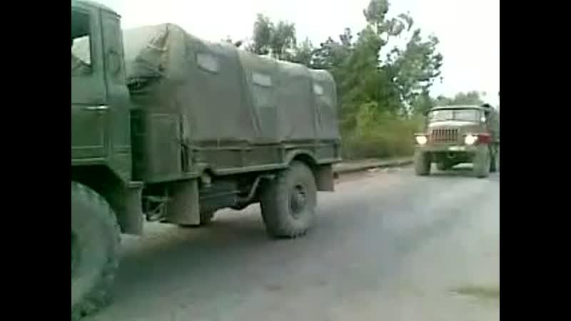 Российские войска на территории Абхазии Посёлок Агудзера лето осень 2008 года