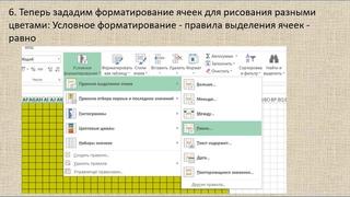 Как нарисовать схемы для жаккарда с помощью Microsoft Office Excel