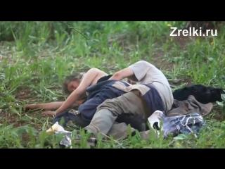 Бездомные пьяные бомжи трахаются на помойке mature teen anal зрелая russian homeless hobo drunk public sex outdoor