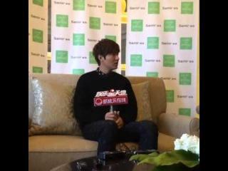 "Lee Minho 이민호 Semir ""Light On Spring"" Media Interview 140111"