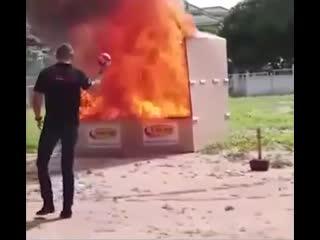 Как вам такая идея тушения пожара