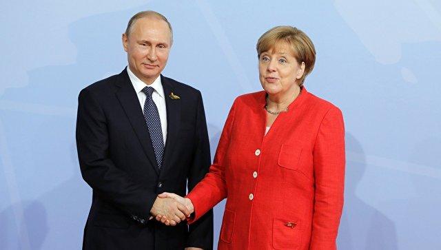Путин проведёт переговоры с Меркель