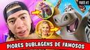 10 PIORES DUBLAGENS de FAMOSOS em DESENHOS animados Disney Pixar PARTE 2