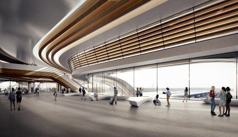 zaha hadid architects reveals tallinn rail terminal that doubles as a public bridge