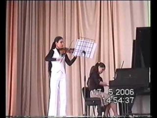 Julinoza Julia Zaporozhets Awakening for violin and piano 2006 violin - malika zalolova