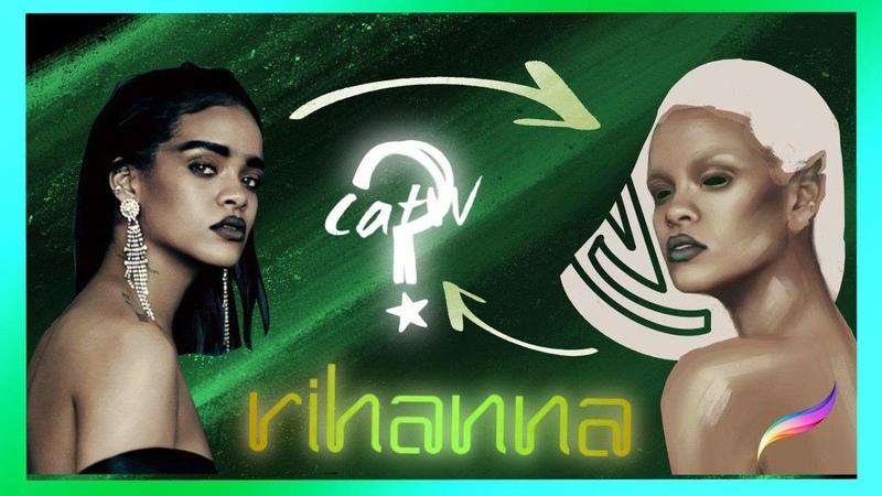 Рианна в procreate что получится Rihanna in procreate what happens