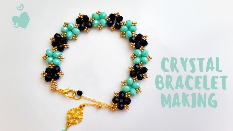 Kolay Kristal Bileklik Yapımı || Easy Crystal Bracelet Making || DIY