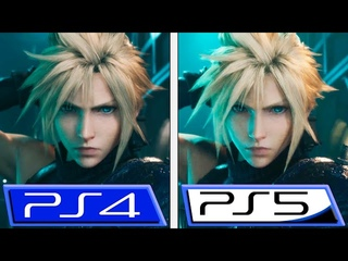Final Fantasy VII Remake | PS5 VS PS4 | Trailer Comparison