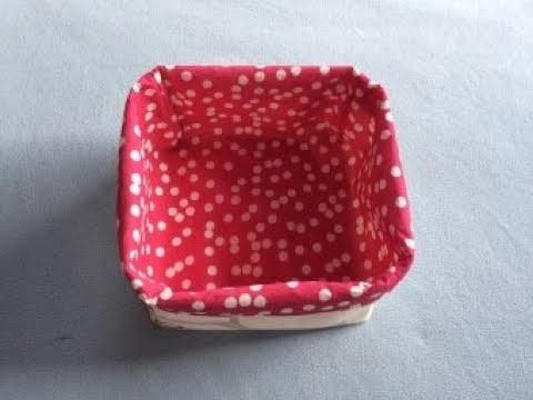 DIY Reversible Fabric Basket | Panier | Tutorial