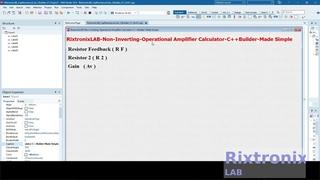 Creating Non Inverting Op Amp Calculator Easy C++Builder  Ep3