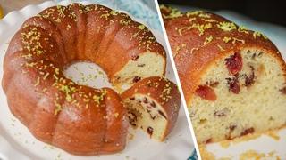 Кекс миндально-лимонный с клюквой (CookingTime)