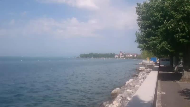1️⃣9️⃣ Начало лета на Женевском озере, Лозанна, набережная Уши.