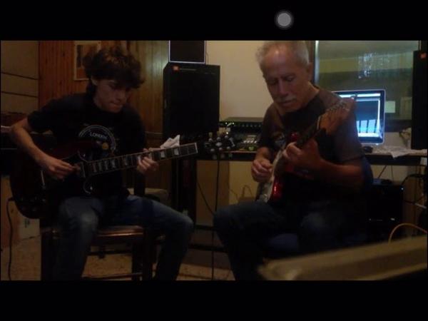 Isn t she lovely Stevie Wonder Matteo Mancuso and Mr. Vincenzo Mancuso Guitar Jam