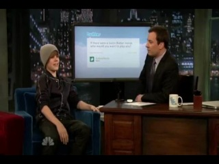 Jusin Bieber on Jimmy Fallon 4 08 2010