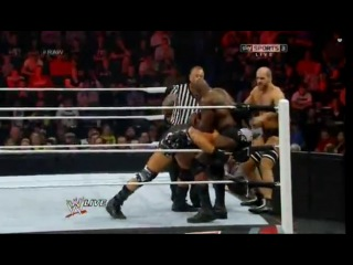 [WM] WWE Monday Night Raw  -  The Prime Time Players (Darren Young & Titus O'Neil) vs. The Real Americans (Antonio Cesaro & Jack Swagger) (w/Zeb Colter)