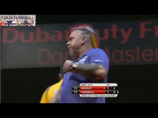 Dave Chisnall vs Peter Wright (2014 Dubai Duty Free Darts Masters / Semi Final)