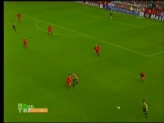 ЛЧ 2001-2002. Второй групповой этап. Ливерпуль - Барселона 1:3. Гол Марка Овермарса.