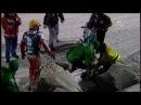 Ice Racing - Drużynowe Mistrzostwa Świata w żuzlu na lodzie - Bieg 38 - Upadek