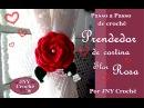 Passo a Passo de Crochê Prendedor de Cortina Rosa enrolada por JNY Crochê