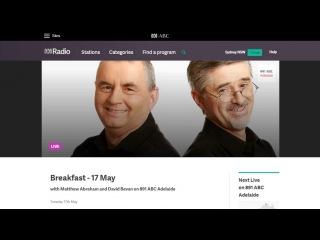Радио Австралии о SkyWay, интервью с Родом Хуком.