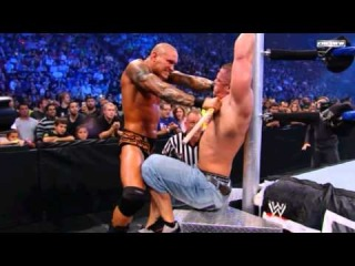 Randy Orton Vs John Cena - In An I Quit Match For The WWE Championship (Breaking Point 2009) HD