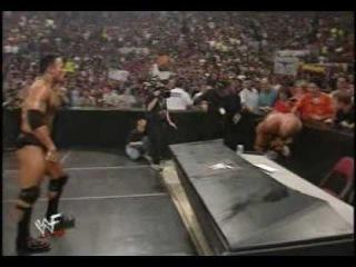 WWF The Rock Vs Stone Cold Steve Austin Steel Cage Match PART 1