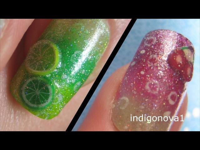 Cherryade Lemonade Summer Fimo Fruit Nail Art Tutorial