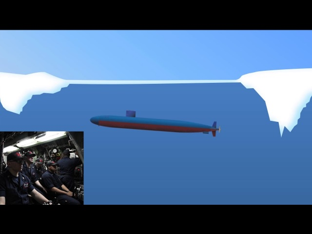 USS Hartford SSN 768 Surfaces During Ice Exercise 2018