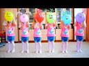 Learn colors with balloons finger family song playing and learning colors for children