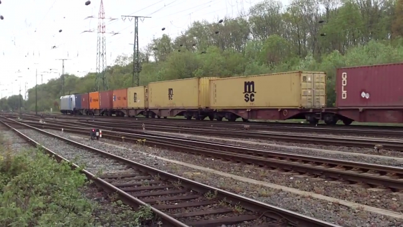 Cologne Gremberg Germany 27 4 2015 Freight Train 17