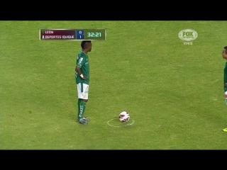 Copa libertadores 2013. leon (mexico) vs deportes iquique (chile). primer tiempo. 1ra fase.