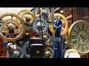 Часовой механизм Шестеренки Футажи для видеомонтажа Механизм часов Шестеренки видео