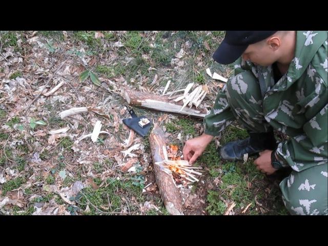 Лесной аналог турбо печки, или костер плита