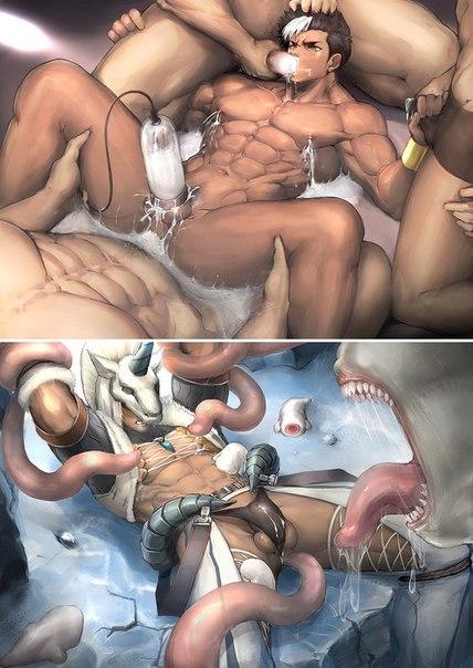 Гей Порно Комиксы Щупальца