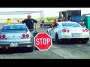 Nissan GT-R R35 vs GTR R33 Drag Race 1/4 Mile Viertelmeile Rennen Acceleration Sound Burnout