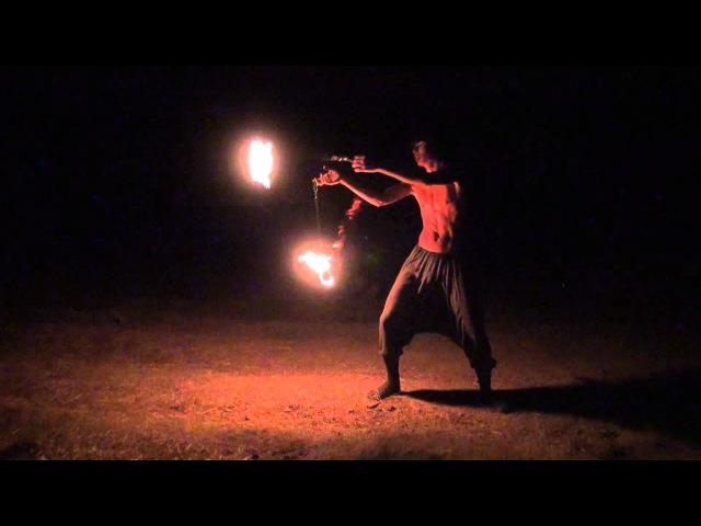 Dima Holmsky 18yrs old Poi Master combo tricks Skazochniy Gorod Festival 24 August 2011