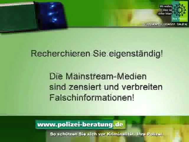 Die Polizei bestätigt BRD GmbH und Neue Weltordnung privater Notruf an alle