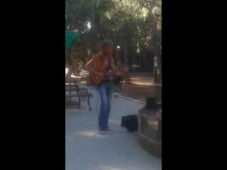 Гитарист Родион Шинкарёв в Форосе - Money (Pink Floyd cover)